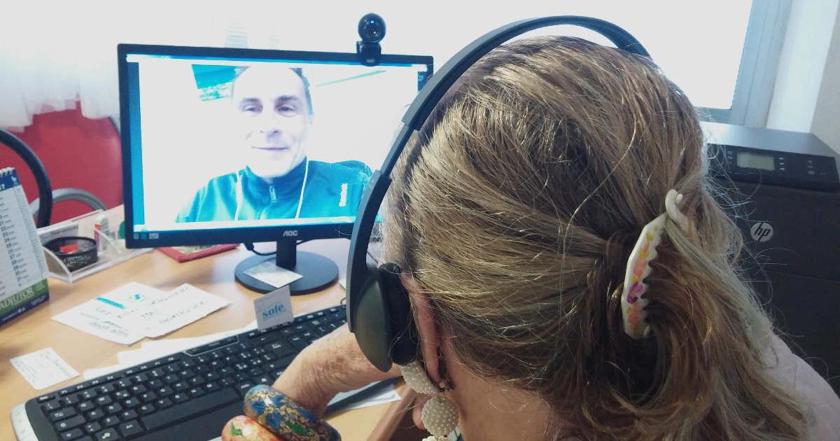Tullia e Peter in collegamento Skype